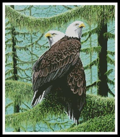 A Gathering of Eagles (Crop) by Artecy printed cross stitch chart